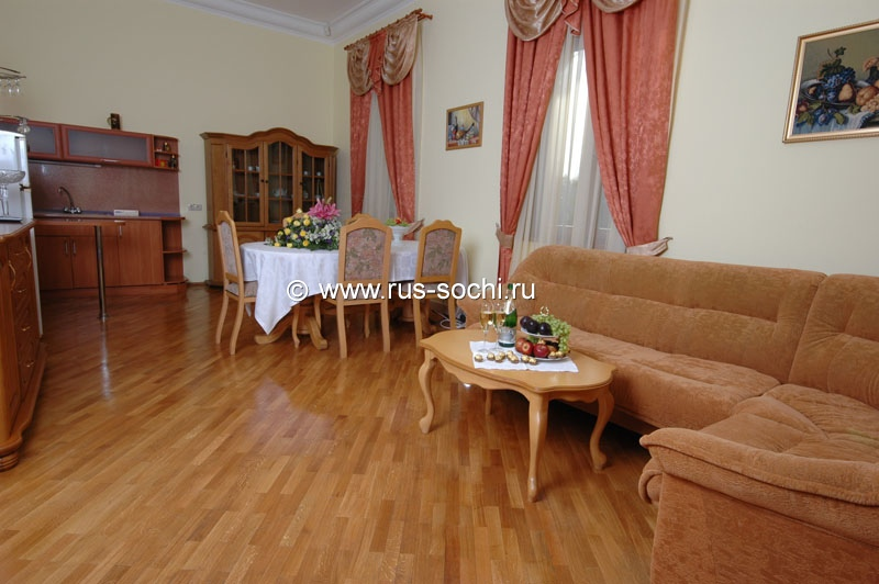 «Deluxe» apartment of supreme category with 2 rooms for 2 persons